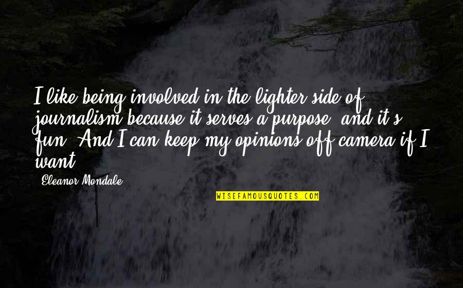 Camera Quotes By Eleanor Mondale: I like being involved in the lighter side