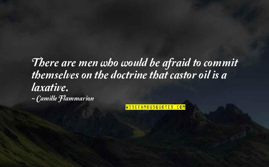 Camille Flammarion Quotes By Camille Flammarion: There are men who would be afraid to