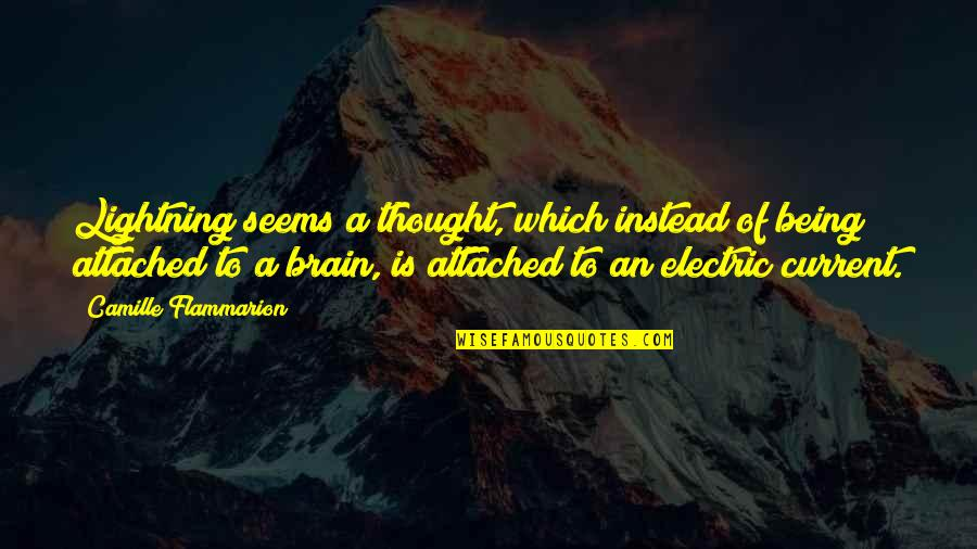 Camille Flammarion Quotes By Camille Flammarion: Lightning seems a thought, which instead of being
