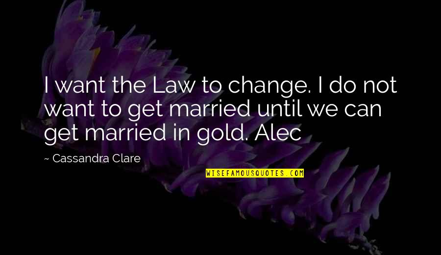 Can I Change Quotes By Cassandra Clare: I want the Law to change. I do