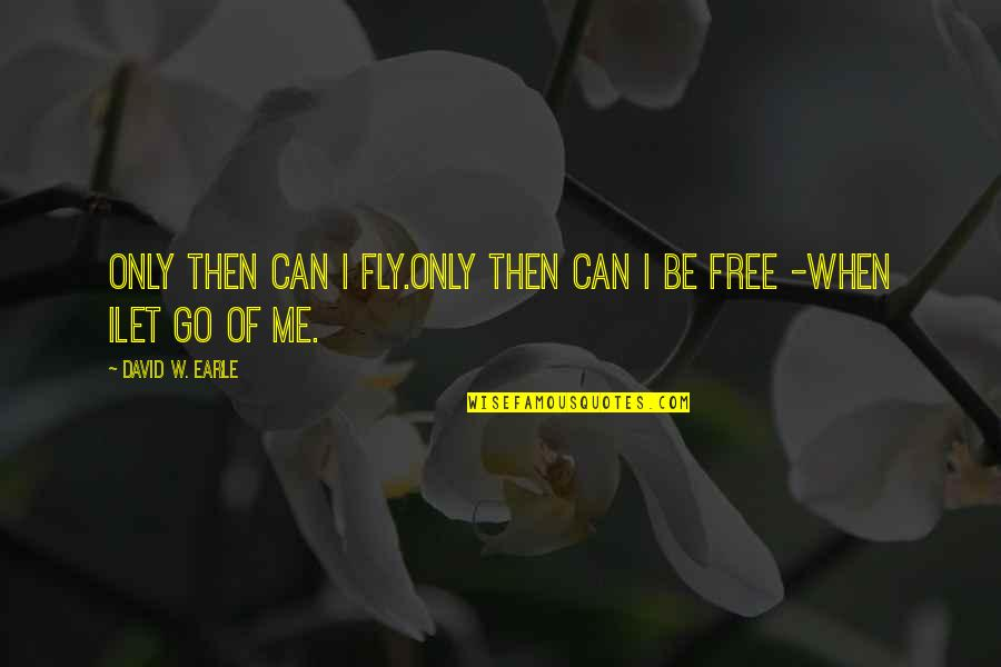 Can I Change Quotes By David W. Earle: Only then can I fly.Only then can I