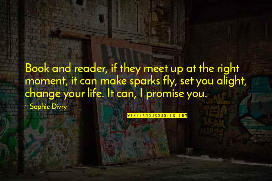 Can I Change Quotes By Sophie Divry: Book and reader, if they meet up at