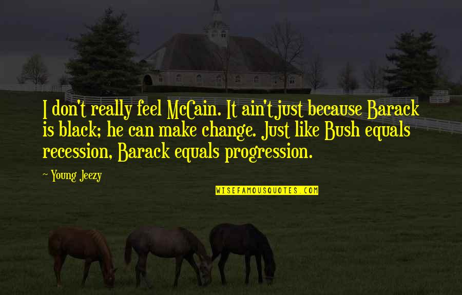 Can I Change Quotes By Young Jeezy: I don't really feel McCain. It ain't just