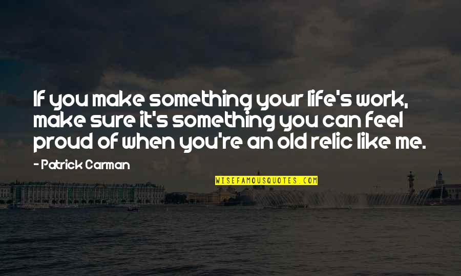 Can We Make It Work Quotes By Patrick Carman: If you make something your life's work, make