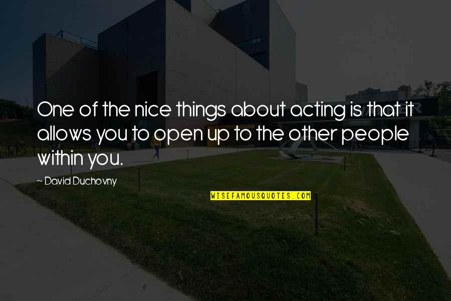 Canada Annuity Quotes By David Duchovny: One of the nice things about acting is