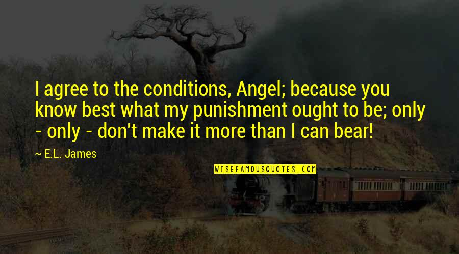 Cana's Quotes By E.L. James: I agree to the conditions, Angel; because you