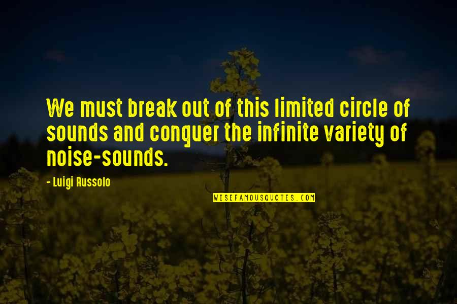 Cancer Sign Birthday Quotes By Luigi Russolo: We must break out of this limited circle