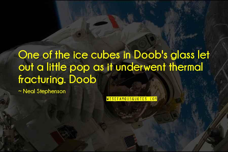 Cancer Sign Birthday Quotes By Neal Stephenson: One of the ice cubes in Doob's glass