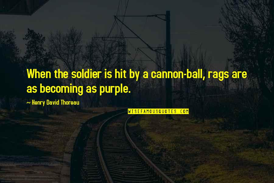 Cannon Quotes By Henry David Thoreau: When the soldier is hit by a cannon-ball,
