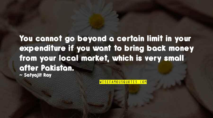 Cannot Go Back Quotes By Satyajit Ray: You cannot go beyond a certain limit in
