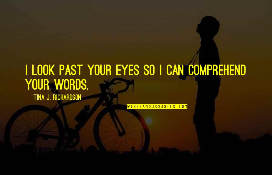 Can't Comprehend Quotes By Tina J. Richardson: I look past your eyes so I can