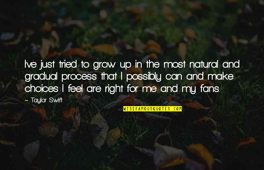 Can't Grow Up Quotes By Taylor Swift: I've just tried to grow up in the