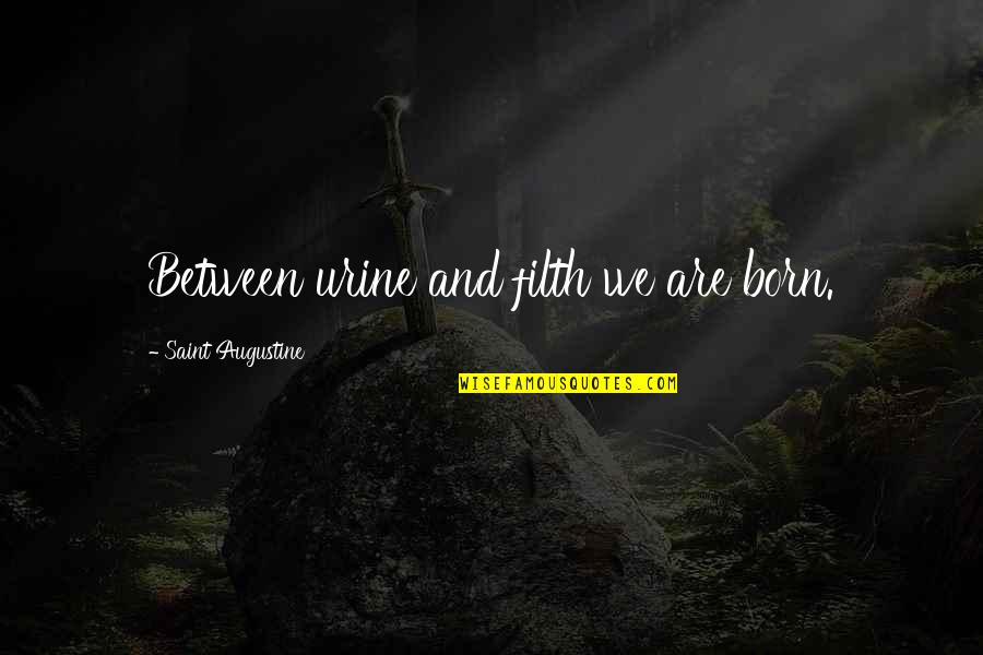 Can't Handle Your Liquor Quotes By Saint Augustine: Between urine and filth we are born.