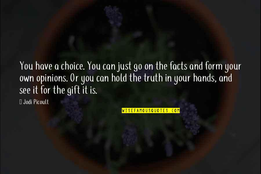 Can't Hold On Quotes By Jodi Picoult: You have a choice. You can just go