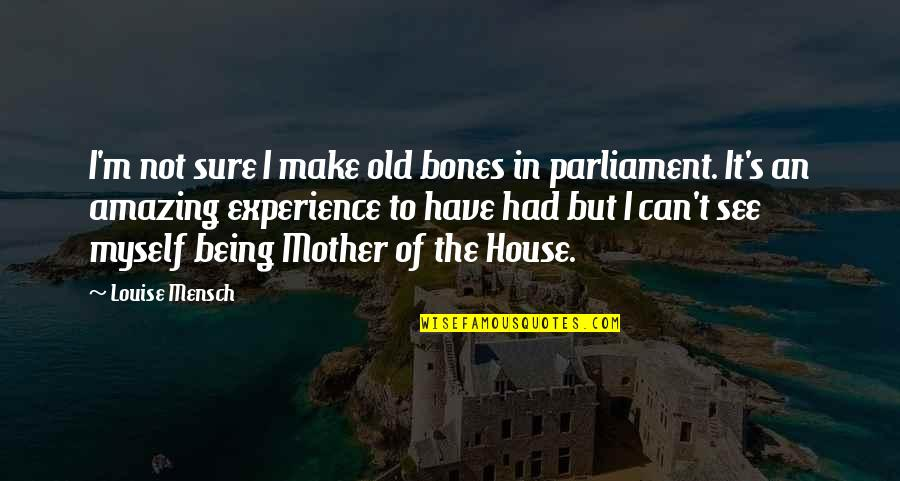 Can't Make It Quotes By Louise Mensch: I'm not sure I make old bones in