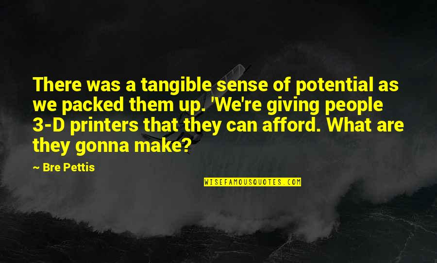 Can't Make Sense Quotes By Bre Pettis: There was a tangible sense of potential as