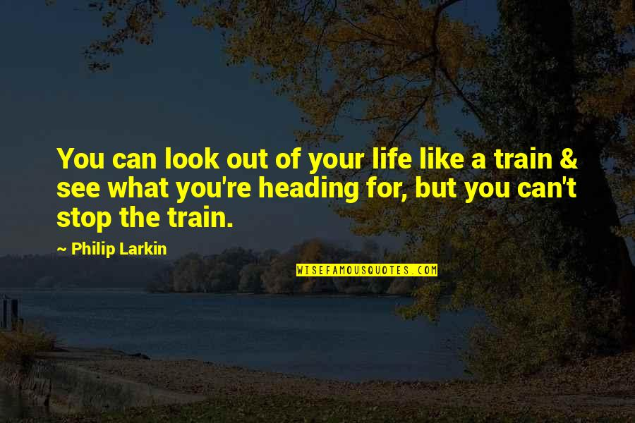 Can't You See Quotes By Philip Larkin: You can look out of your life like