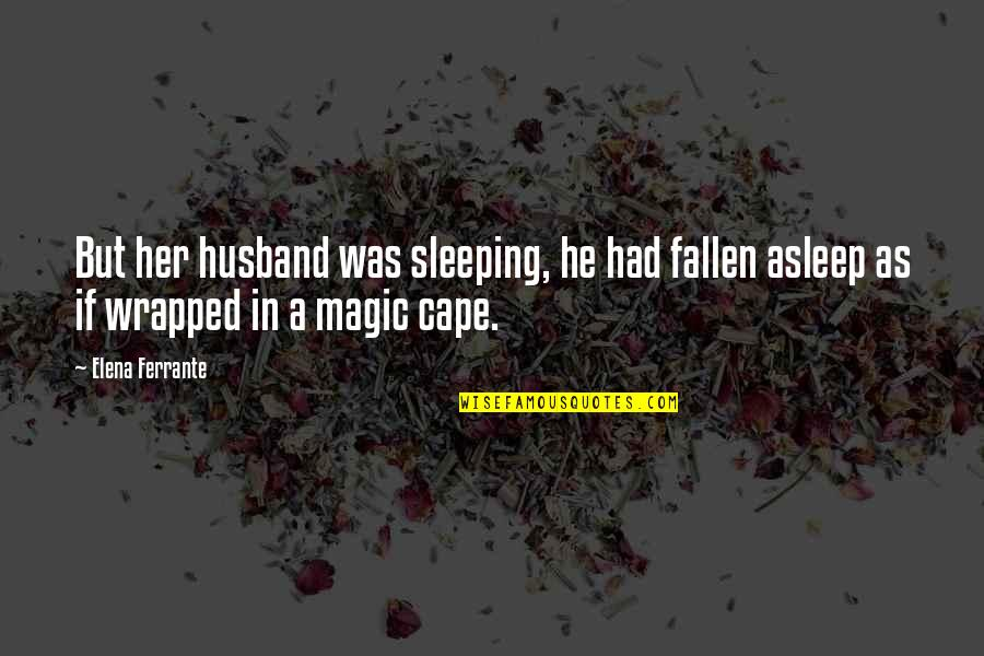 Cape Quotes By Elena Ferrante: But her husband was sleeping, he had fallen