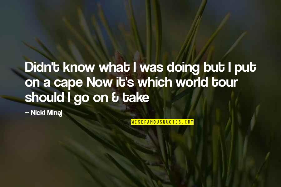 Cape Quotes By Nicki Minaj: Didn't know what I was doing but I