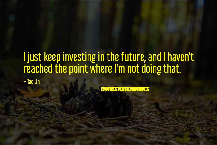 Capitalizing Titles In Quotes By Tao Lin: I just keep investing in the future, and