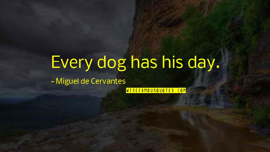Captain Moroni Quotes By Miguel De Cervantes: Every dog has his day.