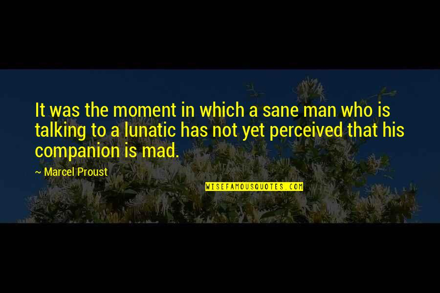 Capuchin Monkey Quotes By Marcel Proust: It was the moment in which a sane