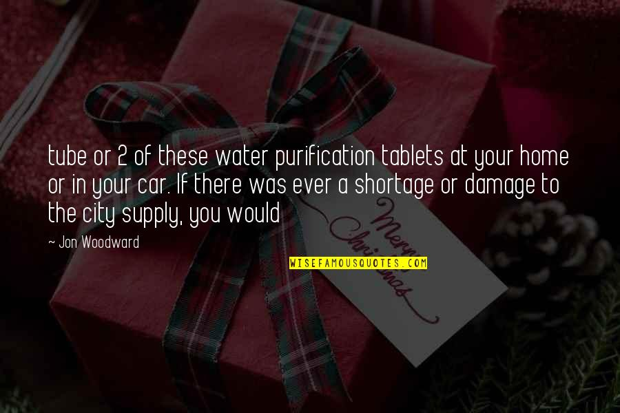 Car Damage Quotes By Jon Woodward: tube or 2 of these water purification tablets
