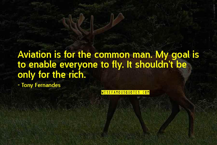 Car Hire Cape Town Quotes By Tony Fernandes: Aviation is for the common man. My goal
