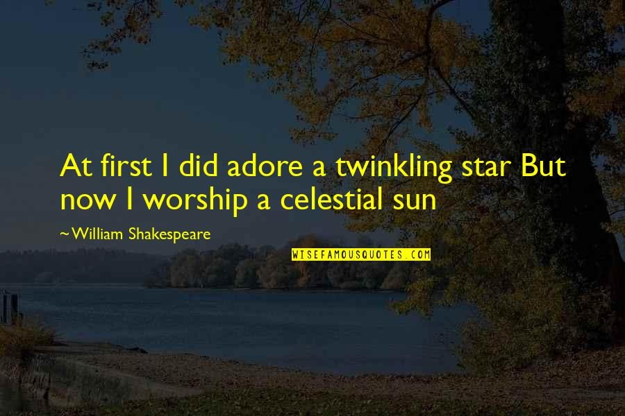 Car Hire Cape Town Quotes By William Shakespeare: At first I did adore a twinkling star