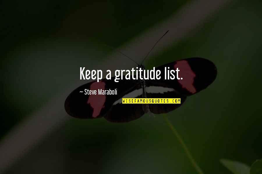 Car Repair Instant Quotes By Steve Maraboli: Keep a gratitude list.