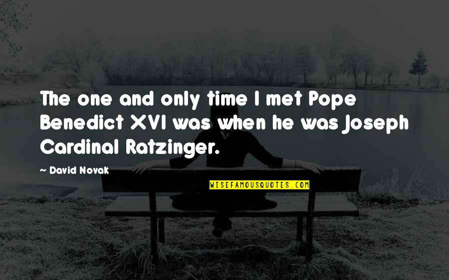 Cardinal Quotes By David Novak: The one and only time I met Pope