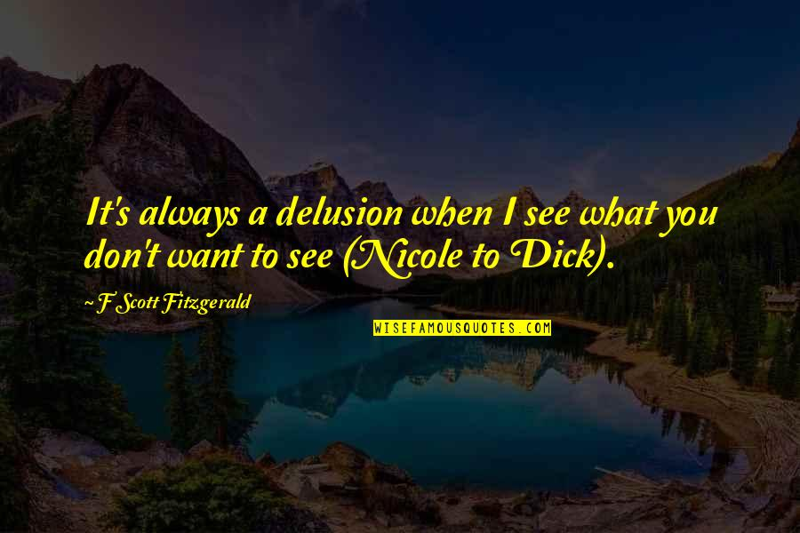 Career And Education Quotes By F Scott Fitzgerald: It's always a delusion when I see what