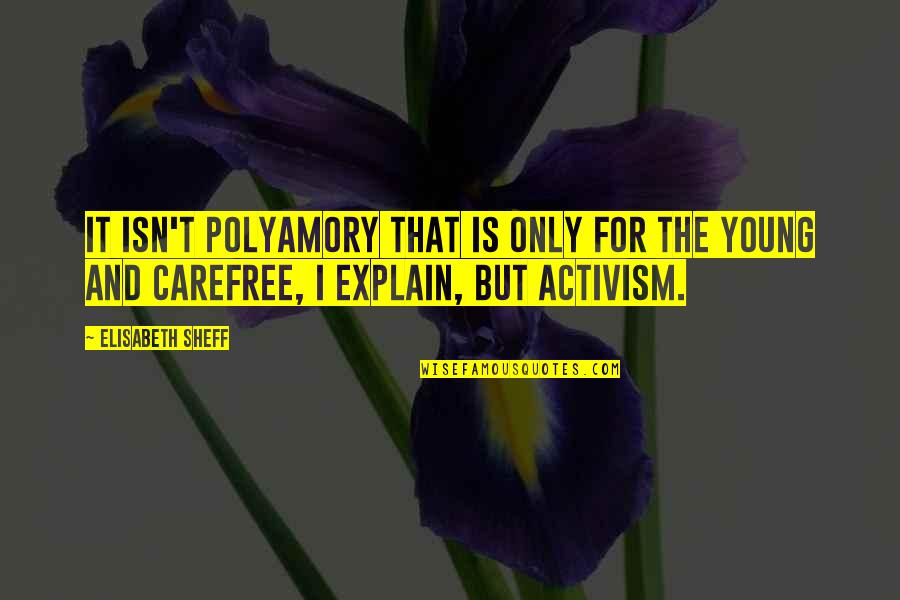 Carefree Quotes By Elisabeth Sheff: It isn't polyamory that is only for the