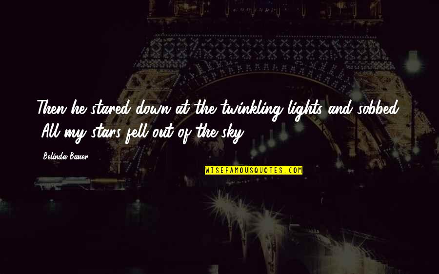 Caretaking Quotes By Belinda Bauer: Then he stared down at the twinkling lights