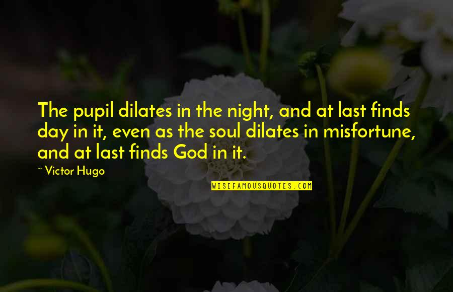 Caring For Someone Who Is Dying Quotes By Victor Hugo: The pupil dilates in the night, and at