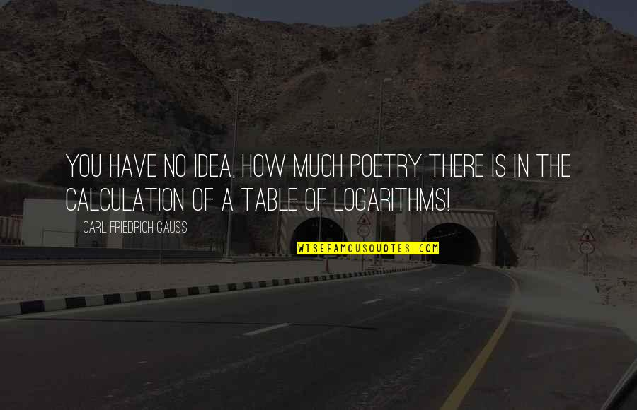 Carl Friedrich Gauss Quotes By Carl Friedrich Gauss: You have no idea, how much poetry there