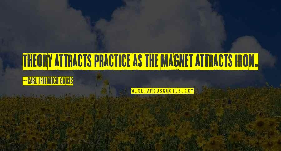 Carl Friedrich Gauss Quotes By Carl Friedrich Gauss: Theory attracts practice as the magnet attracts iron.