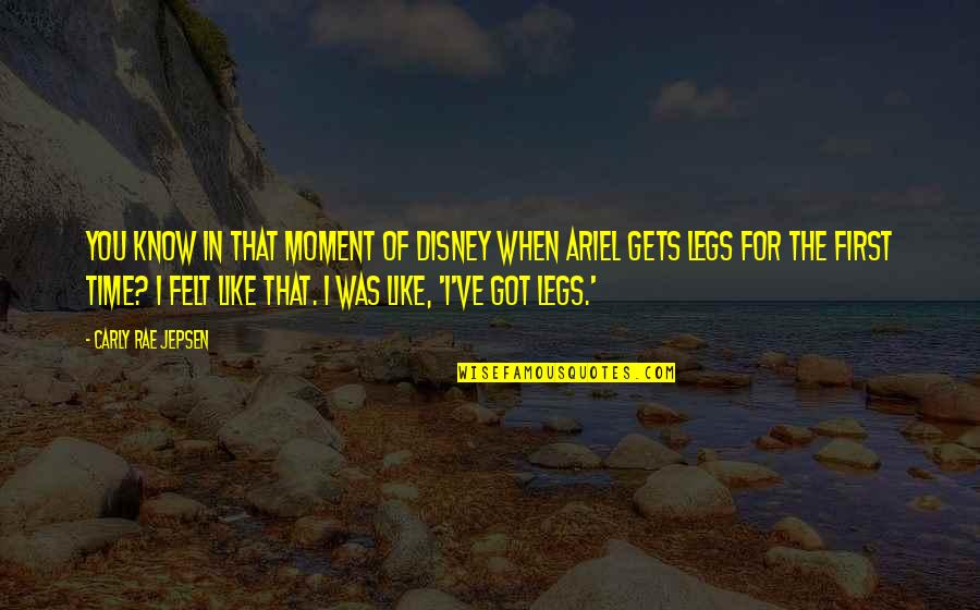 Carly Rae Jepsen I Really Like You Quotes By Carly Rae Jepsen: You know in that moment of Disney when