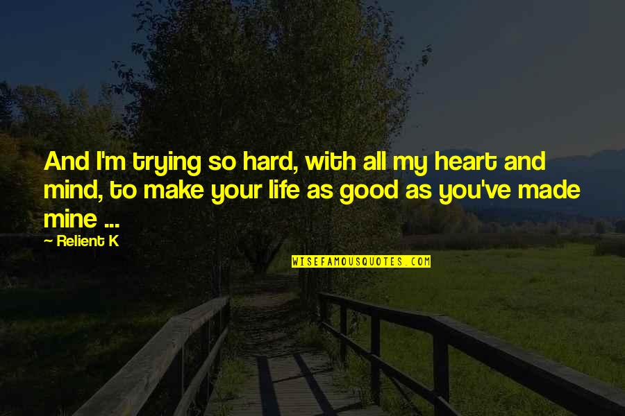 Carrie And Big Quotes By Relient K: And I'm trying so hard, with all my