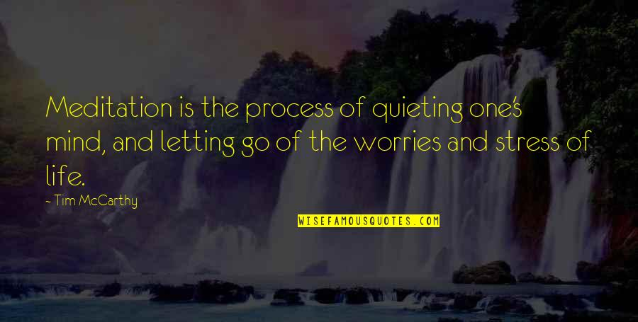 Carrie Bradshaw Monologue Quotes By Tim McCarthy: Meditation is the process of quieting one's mind,