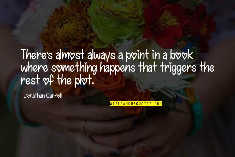 Carroll's Quotes By Jonathan Carroll: There's almost always a point in a book