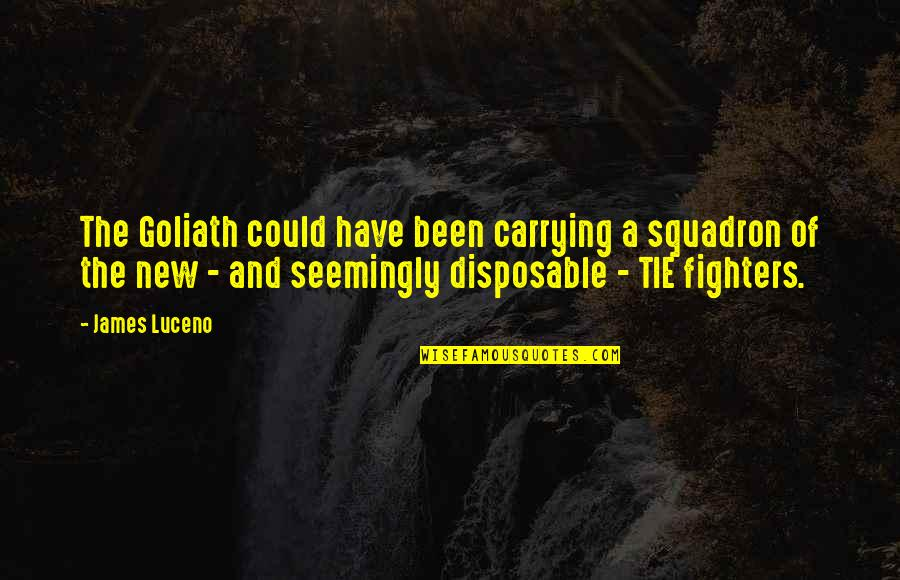 Carrying Each Other Quotes By James Luceno: The Goliath could have been carrying a squadron