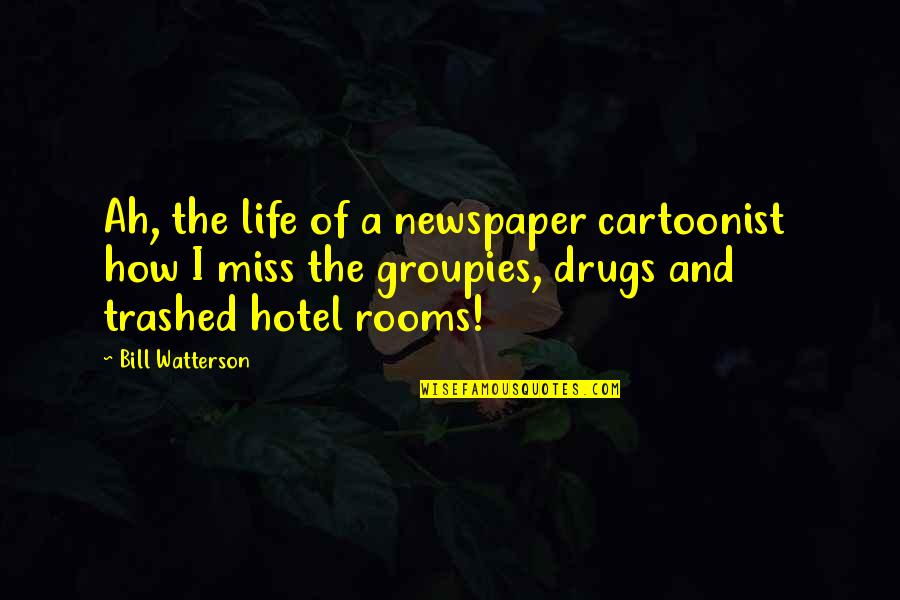 Cartoonist Quotes By Bill Watterson: Ah, the life of a newspaper cartoonist how