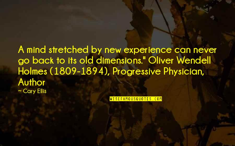Cary Quotes By Cary Ellis: A mind stretched by new experience can never