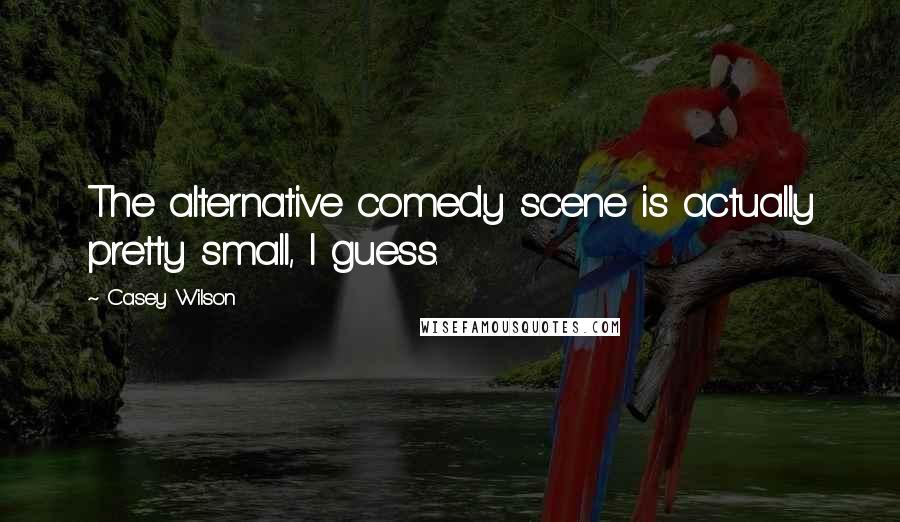 Casey Wilson quotes: The alternative comedy scene is actually pretty small, I guess.