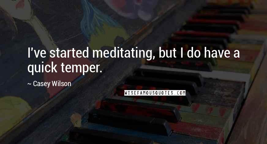 Casey Wilson quotes: I've started meditating, but I do have a quick temper.