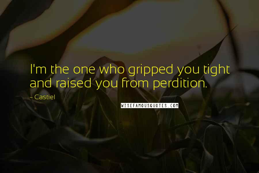 Castiel quotes: I'm the one who gripped you tight and raised you from perdition.