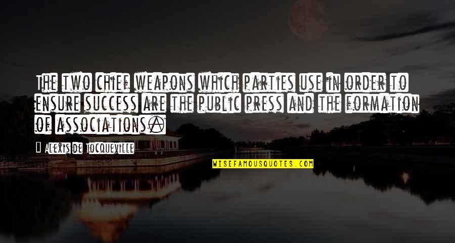 Cat In The Rain Quotes By Alexis De Tocqueville: The two chief weapons which parties use in