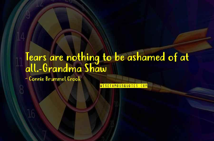 Catching Waves Quotes By Connie Brummel Crook: Tears are nothing to be ashamed of at