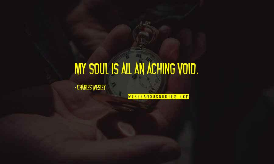 Catchy Pro Life Quotes By Charles Wesley: My soul is all an aching void.